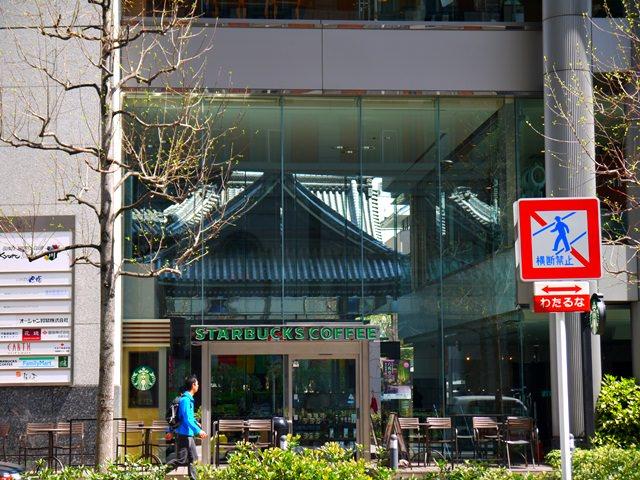 【13 春遊.櫻之關西 】- DAY4 咖啡廳裡有佛寺~ 星巴克@京都烏丸六角店