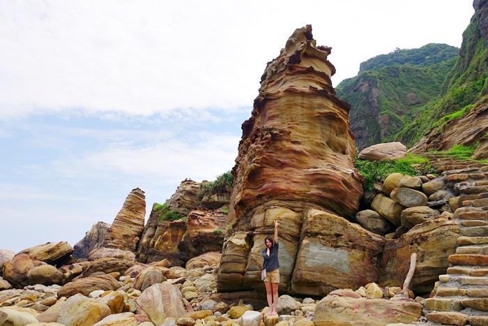 【新北.瑞芳】- 東北角秘境 南雅奇岩.順遊金瓜石、九份老街、十分瀑布