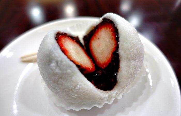 【食記】三明堂.手作草莓大福.麻糬烏龍麵.單純的日式風味 @ 天母